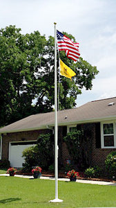 RESIDENTIAL CONE TAPERED FIBERGLASS FLAGPOLE