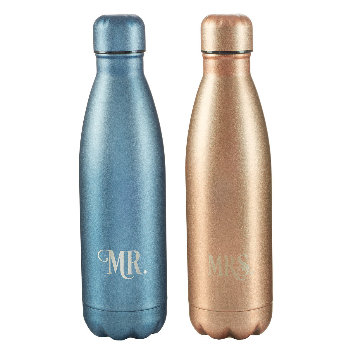 Mr. & Mrs. Collection Stainless Steel Water Bottle Set