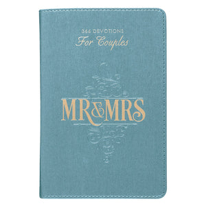 Mr & Mrs Devotions For Couples in LuxLeather Leather Bound