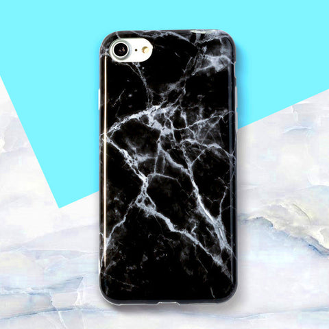 Jet Crack Marble iPhone Case