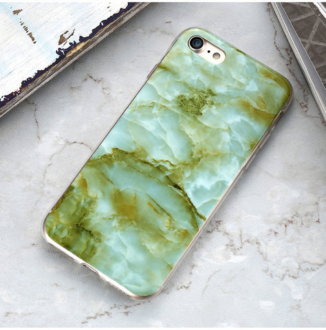 Emerald Green Marble Style iPhone Case