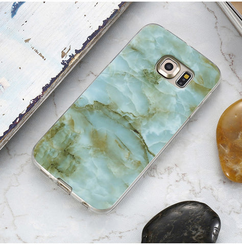 Emerald Green Marble Samsung Case