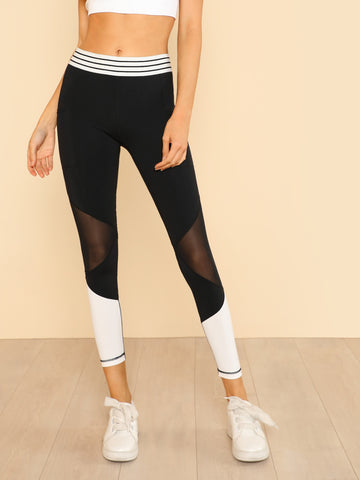 Multi Panel Contrast Leggings