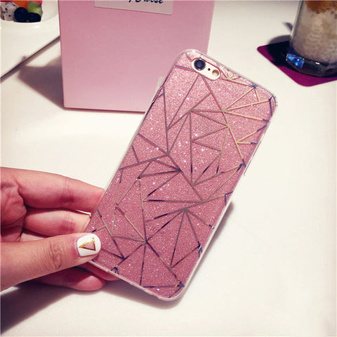 Pink Glitter Angles iPhone Case