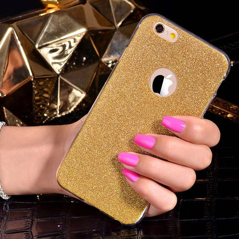 Gold Glitter iPhone Case
