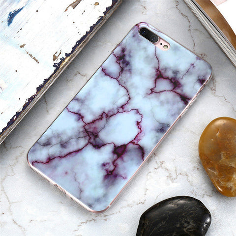 Raspberry Ripple Marble Style iPhone Case