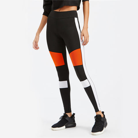 Retro Contrast Panel Leggings