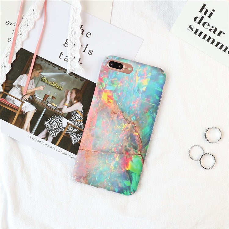 Rainbow Volcano Marble iPhone Case