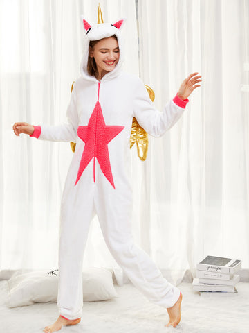 Flying Gold Wing Unicorn Onesie