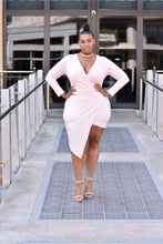 Load image into Gallery viewer, Views Pale Pink Deep V Dress