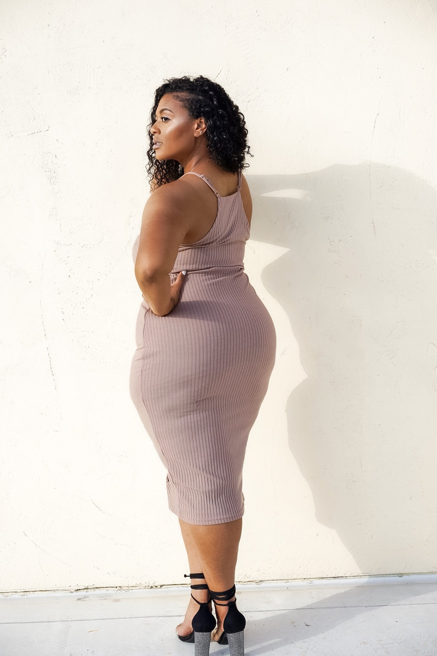 Skin | Nude Ribbed Dress