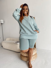 Let's Chill | 3 pc Muted Mint Sweatshirt Set