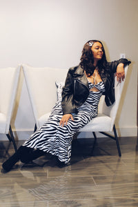 Wild Night | B&W Zebra Print 2 pc set