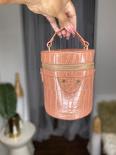 Load image into Gallery viewer, Day Date | Mauve Crocodile Bucket Bag