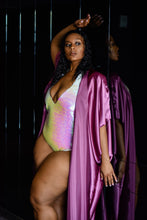 Load image into Gallery viewer, Deep Mauve Satin Kimono