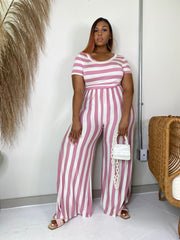Cabana Life | Mauve Striped Jumpsuit