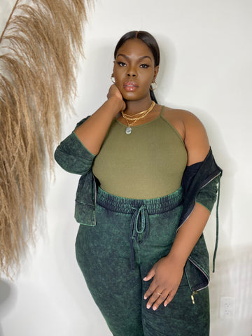 Bodied | Olive Green Bodysuit