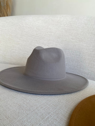 Chic Happens  | Grey Wide Brim Hat
