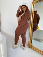 Cabin Fever | Chocolate Sweat 2pc Set