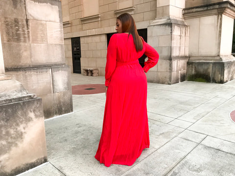 Heartbreaker | Red chiffon Dress