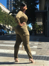 Load image into Gallery viewer, Take Flight | Olive Jumpsuit