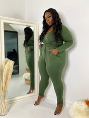 The Switch Up  |  Olive  2pc Set