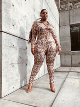 Load image into Gallery viewer, Rattle Me Baby | Vegan Leather Snakeskin Jumpsuit
