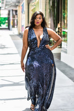 Load image into Gallery viewer, Midnight Ménage | Navy Sequin Dress