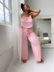 Around Town | Soft Pink Jumpsuit