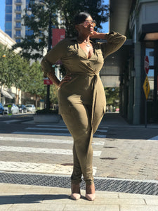 Take Flight | Olive Jumpsuit