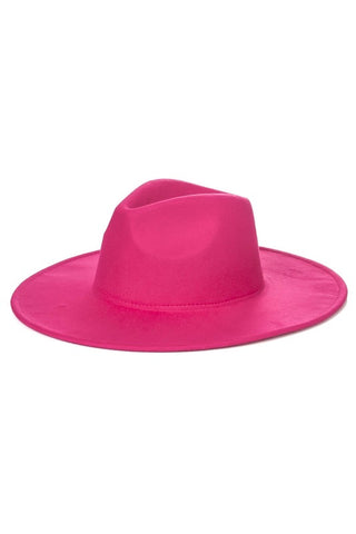 Chic Happens  | Pink Wide Brim Hat