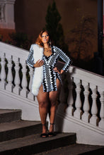 Load image into Gallery viewer, Scene Stealer | Black and White Sequin Dress