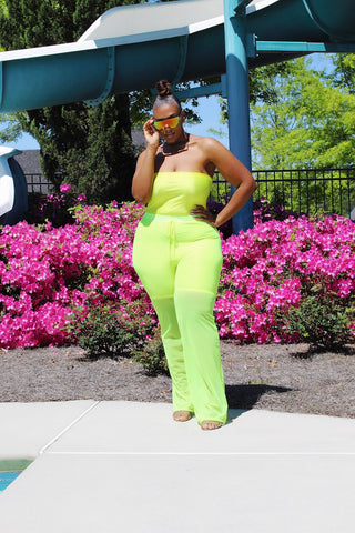 Clear Cut | Neon  Mesh Pants
