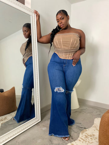 Snatched | Denim High-waist Flare Jeans