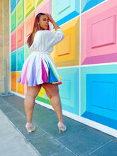 Load image into Gallery viewer, Color Pop | Multi Colored White Dress