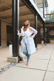 Clearly Chic |  White Organza Trench