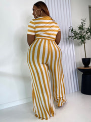 Cabana Life | Mustard Striped Jumpsuit