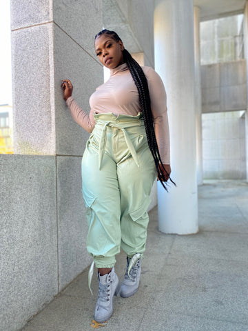 Sage Swag | Vegan Leather Paper Bag Pants