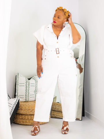 Makeway  | Stretch Denim Jumpsuit