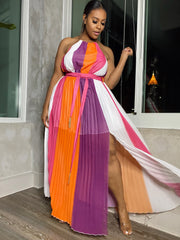 Sunset Me | Color Block Maxi Dress