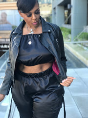 Biker Babe |  Vegan leather Moto jacket