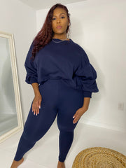 Yeezy Taught Me | Navy 2pc Set
