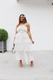 Layers of Love | Polka Dot Ruffle Tiered Dress
