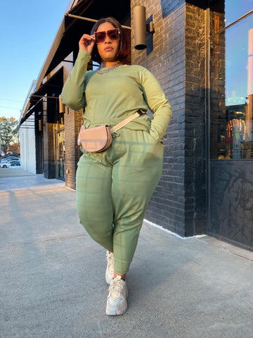 In and Out | Green Sweat 3pc Set with Mask