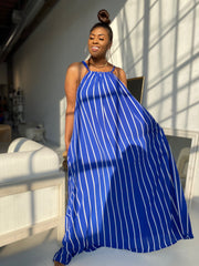 Take Me Away | Cobalt Blue Stripe Maxi Dress