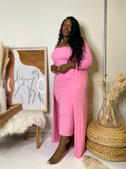 Finesse  | Pink Ribbed 2pc Set
