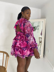 Back at It | Purple Floral Dress