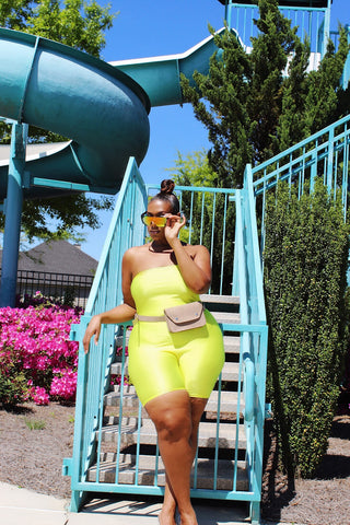 Bright Side | Neon Yellow Romper