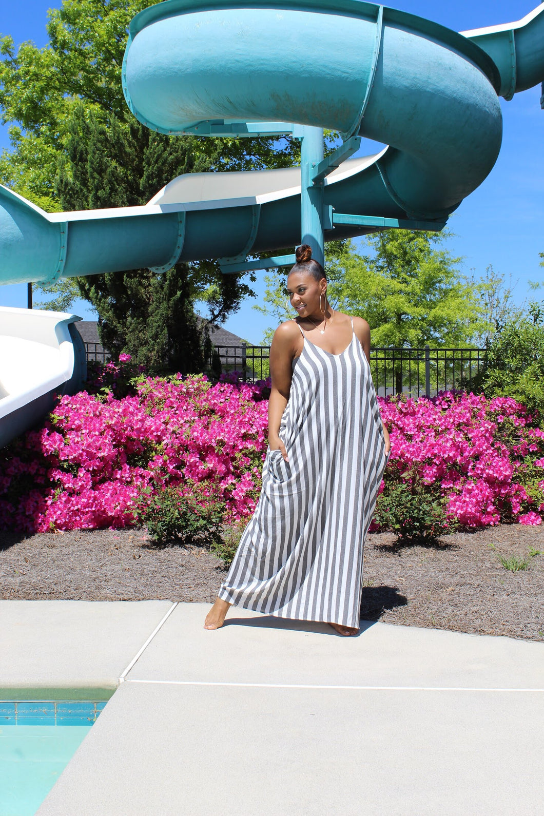 Easy Breezy | Striped Linen Dress