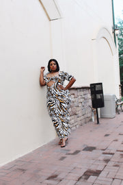 Wild Side | Zebra Print 2 pc set